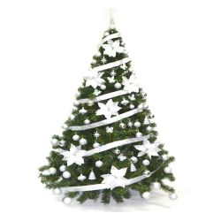 Árbol de Navidad Bariloche 1.80 Mts con Adornos Plata