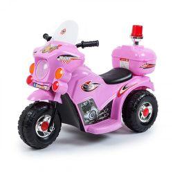 Moto Policía a Batería Love 3003 Color Rosa