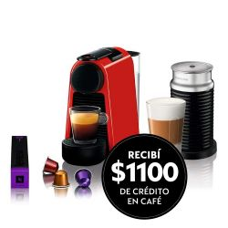 Cafetera Nespresso Essenza Mini Red + Aeroccino 3