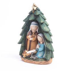 Pesebre Sagrada familia pino 12 cm BSL