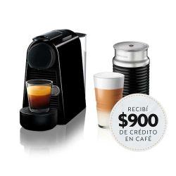 Cafetera Nespresso Essenza Mini Black + Aeroccino 3