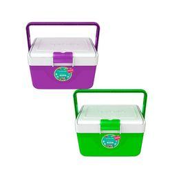 Combo de  2 Heladeritas Conservadoras Infantil de 6,7 lts Violeta y Verde