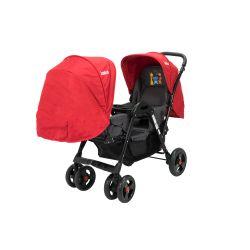 Cochecito de bebé Bebitos BE 758 TWINS Rojo Para mellizos
