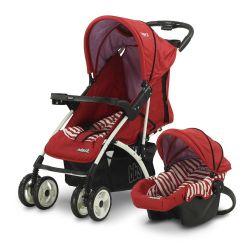 Cochecito de Bebé Bebesit Onyx Rojo + Huevito