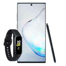 Celular Libre Samsung Galaxy Note 10 Aura Black + Galaxy Fit R370 Negro