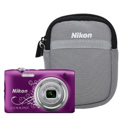 Cámara Digital Nikon A100 20.1 MP 5x Zoom Video HD Kit Purpura