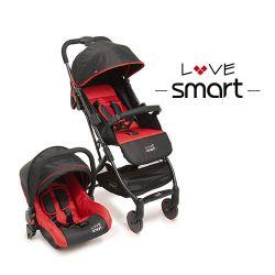 Cochecito Travel System Ultraplegable Love Smart 2205 Negro