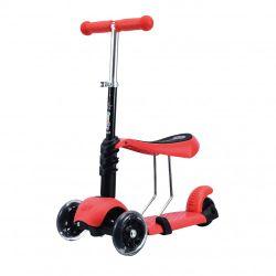 Monopatin 3 en 1 con Asiento 3 ruedas Love 7820 Rojo