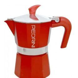 Cafetera Italiana Pedrini Aroma 6 Pocillos 330ml Rojo