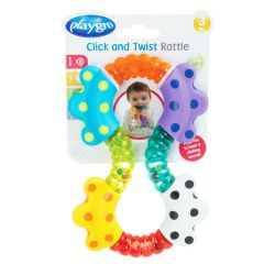 Juguete didáctico Playgro CLICK AND TWIST RATTLE