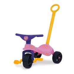 Triciclo Infantil con Manija Jeico Gatita