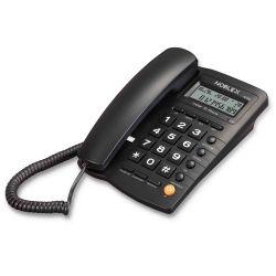 Teléfono con cable de mesa Noblex NCT300 Negro