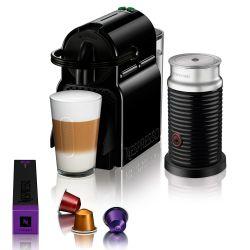 Cafetera Nespresso Inissia Black + Aeroccino 3