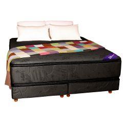 Conjunto RESORTES - Pillow top Suavidad 200 X 200 gris