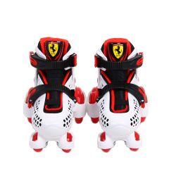 Patines Para Niños Ferrari FK10 Blanco Talle 26-29 Extensible con Casco