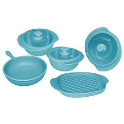 Bateria de Cocina 5 Piezas Oxford Ceramica Turquesa 1128001