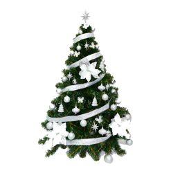 Arbol de Navidad Premium 1 50 Mts con Kit Plata 48 Piezas