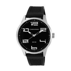 Reloj Hombre Caro Uomo negor malla silicona negra CU06 MSBK