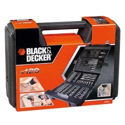 Set Black  Decker para taladro A7211-XJ 129 piezas