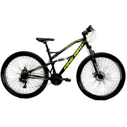 """Bicicleta Mountain Bike Rodado 29"""" Fire Bird BIN29SUS21D Negra y Amarilla"""