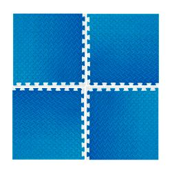 Piso de goma eva azul PGE-50 Rooby Alfombra antigolpes encastrable