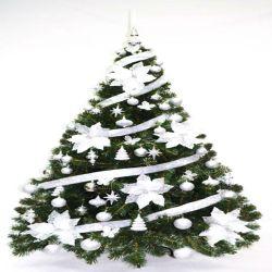Árbol de Navidad Bariloche 1.60 Mts con Kit Plata X 60 u