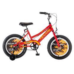 Bicicleta Futura Twin Infantil Rodado 16 Color Rojo y Negro