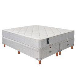 Sommier y Colchón de Resortes Springwall MCB303 160x200cm c/Refuerzo Lumbar y Base Baulera