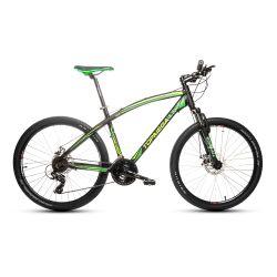 Bicicleta Mountain Bike TopMega Envoy Aluminio Rodado 26 21 Cambios Color Negro y Verde