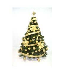 Arbol de Navidad Premium 1 30 Mts con Kit Oro 36 Piezas