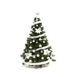 Arbol de Navidad Premium 1 30 Mts con Kit Plata 36 Piezas