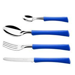 Juego de Cubiertos 24 Piezas Di Solle Acero Inoxidable Inova Azul 1260478