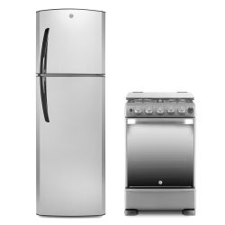 Combo GE Appliances Heladera RGA300FHRE 300 Lt + Cocina CG956I