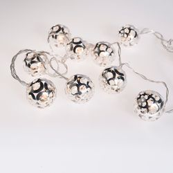 Tira de 10 Luces LED Plateadas Alparamis Kih