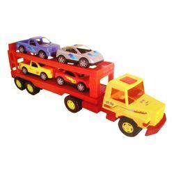 Super Camion De Carga Lionels + 2 Camionetas Y 2 Autos