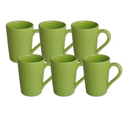 Set x 6 Jarros Mug 230 CC Biona by Oxford Ceramica Verde Lemon 1994061