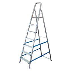 Escalera Mor 7 Escalones Aluminio con Antideslizante