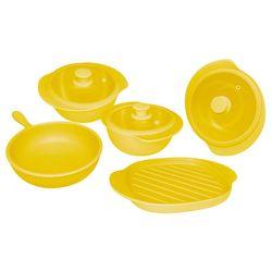 Batería de Cocina 5 Piezas Oxford Cerámica Amarilla 1128000
