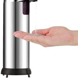 Dispenser Automático Jabón Liquido Detergente 250ml Cromado