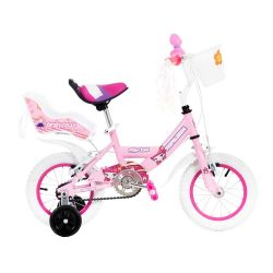 Bicicleta Cross TopMega Princess Rosa Rodado 12 Nena con Rueditas