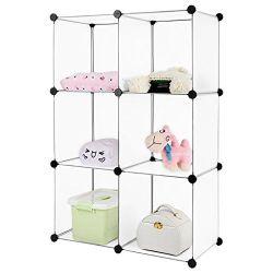 Mueble Organizador De Cubos Por 6 Customizable Traslúcido