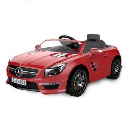 Auto a Bateria Mercedes Benz 12V con Asiento de Cuero 3023 Color Rojo