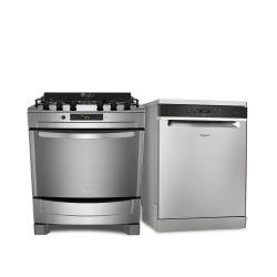 Combo Whirlpool Cocina WF876XG + Lavavajillas WLV14SY