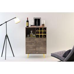 Mueble Organizador Bar Ottilia Tono Roble