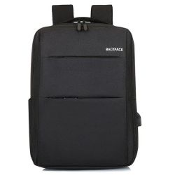 Mochila Porta Notebook Con Carga USB Negra