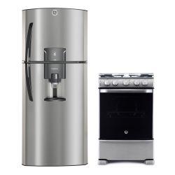 Combo GE Appliances Heladera RGP400FGRU + Cocina CG760I