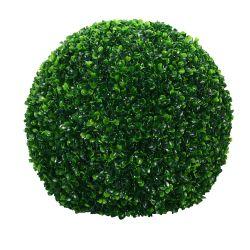 Planta Decorativa Esfera Hojas Buxus Artificial Grande 39 cm