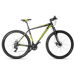 Bicicleta Mountain TopMega Sunshine R29 Aluminio 21 Cambios Color Negra y Amarilla