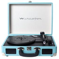 Tocadiscos Vinilo Winco W406 Azul