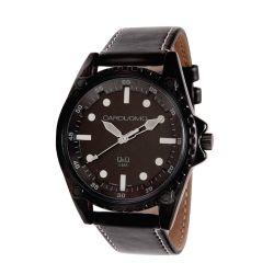 Reloj Hombre Caro Uomo malla eco cuero negro y blanco CU04 ALWH